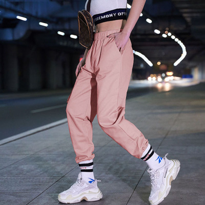 Bf baggy cargo pants for girls in 2019 summer fashion
