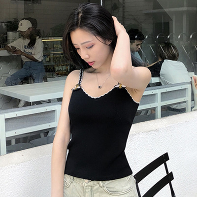 Chic women's new chic Korean chic vest halter women's sweater 2019