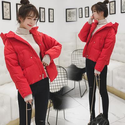 棉衣女短款2019新款冬季韩版连帽宽松羽绒棉服小个子面包服外套潮