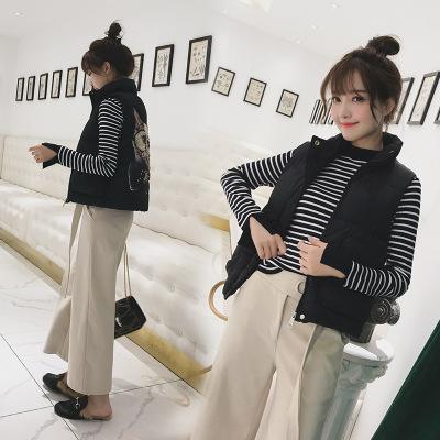 Down cotton vest female autumn winter short style Korean student 2019 new versatile cotton vest loose bread fashion