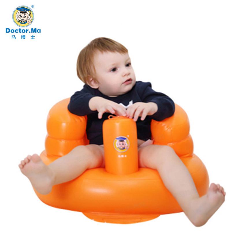 马博士婴儿充气座椅可玩耍洗浴沙滩 多功能餐椅洗澡座椅沙发