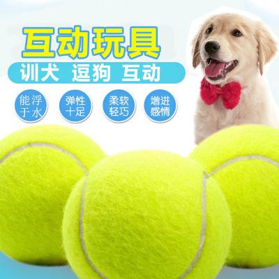 狗玩具 宠物玩具 狗狗玩具 网球空心皮革玩具 橡胶玩具网球