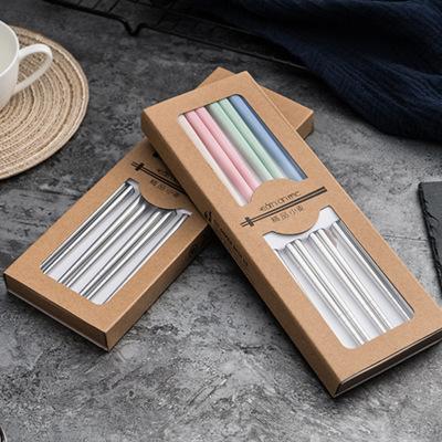 斯得利筷子 不锈钢筷子 304不锈钢筷子套装不锈钢餐具高档盒装4双