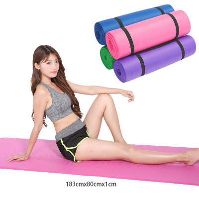 NBR yoga mat width 80cm thickening 10mm lengthen sports fitness mat tasteless all the more pad wholesale trade
