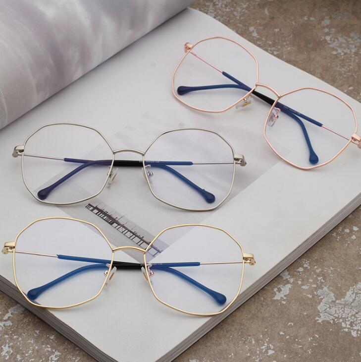 金属大框平光镜 蓝光电脑护目镜 眼镜框金属开球近视架