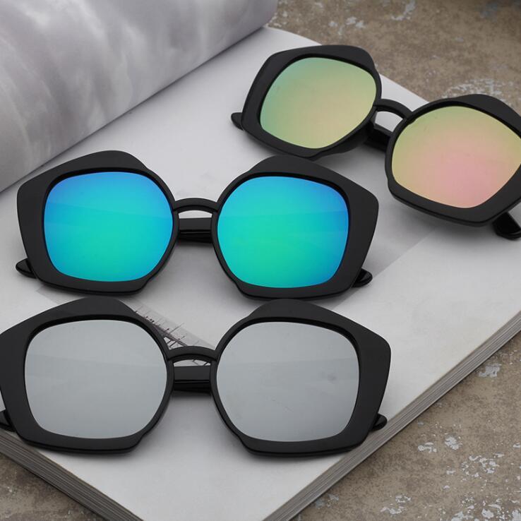 工厂直销时尚儿童太阳镜 新款可爱防紫外线墨镜 潮流黑色太阳眼镜