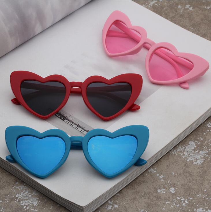 儿童时尚墨镜 卡通爱心太阳眼镜 男女孩蛤蟆太阳镜