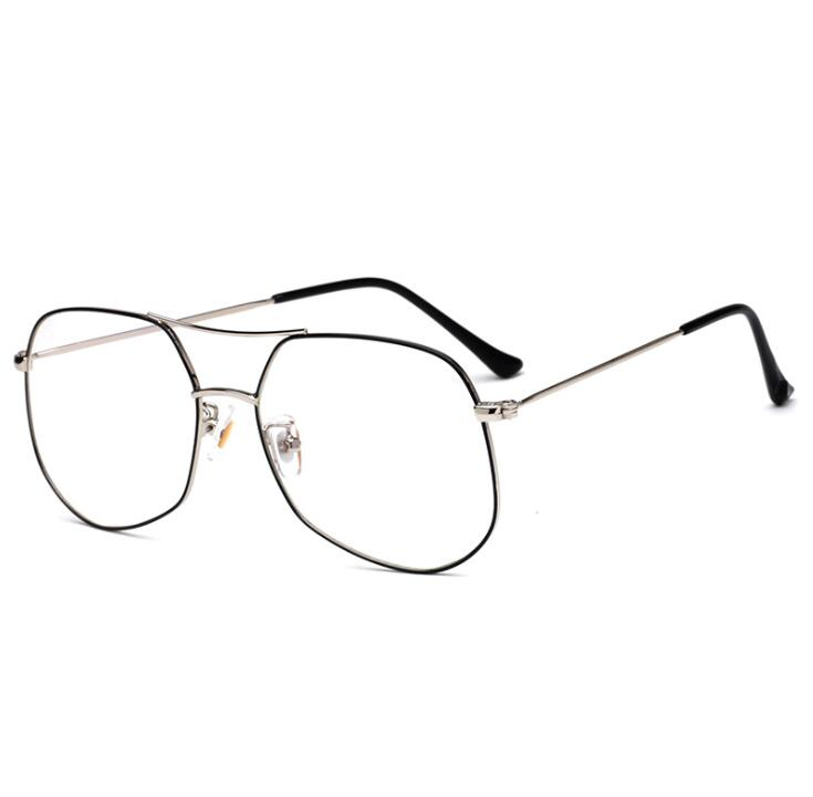大框金属开球双梁防蓝光电脑眼镜 新款男女学生光学架