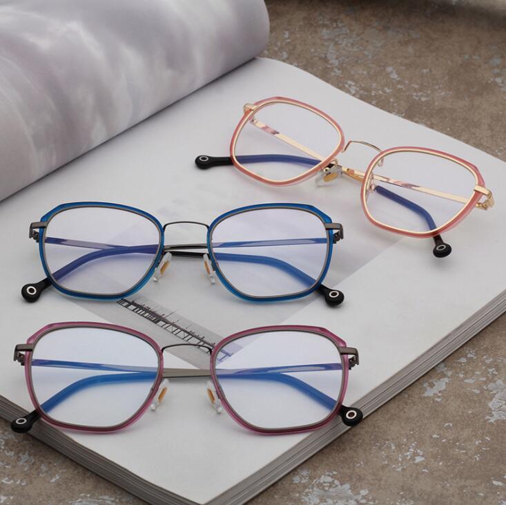 韩版tr90套金属圈平光镜 2019新款近视眼镜框架