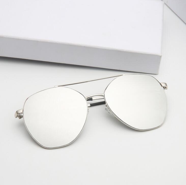 厂家直销新款多边形大框金属太阳镜 女士时尚墨镜 欧美跨境眼镜男
