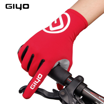 GIYO自行车手套长指破风秋季公路车山地车装备骑行手套长指S-02-L