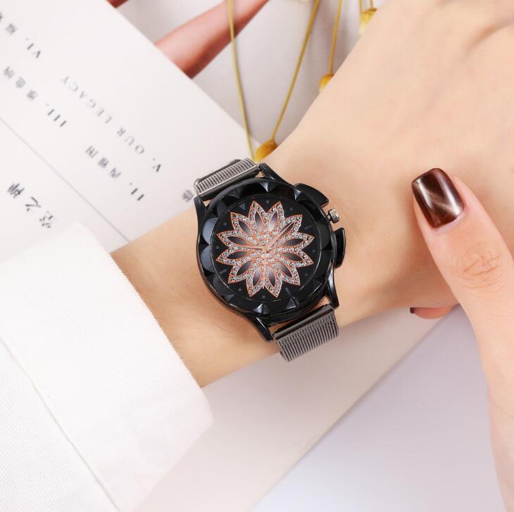 热卖新款Khorasan创意表盘女士不锈钢网带手表女款爆款多色