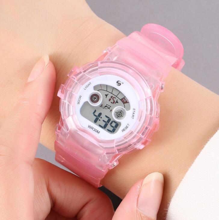热卖爆款学生手表 潮流时尚塑胶女士手表
