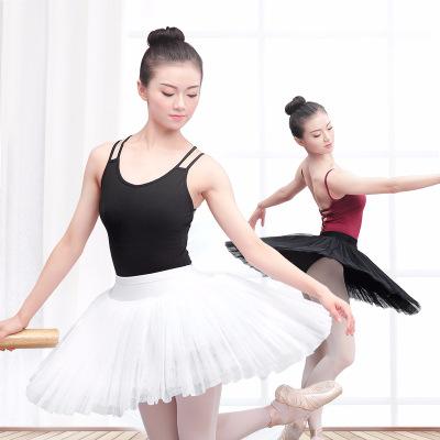 芭蕾TUTU裙成人半身裙女黑色7层硬纱裙带内裤白色芭蕾舞蹈练功裙