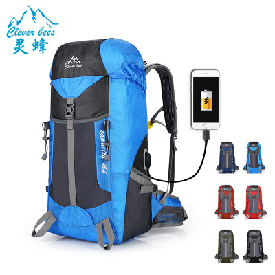 USB智能充电户外旅行登山背囊野外露营运动双肩包野餐野营大背包