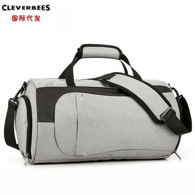 运动包圆筒游泳健身包单肩旅行包行李袋跆拳道圆桶包定做定制bags