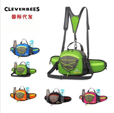 大容量多功能水壶腰包户外运动跑步腰包登山旅行斜挎骑行双肩背包