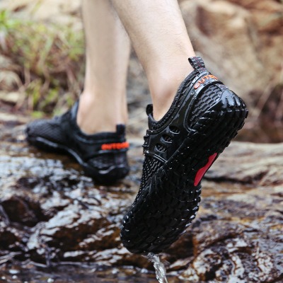 SUOKENI cross-border outdoor male sunstream shoes, five fingers, large size wading shoes, non-slip sandals, quick-slip beach shoes