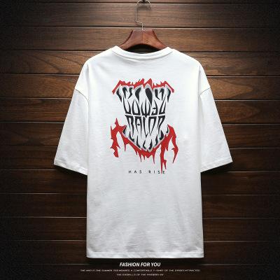 2019夏季嘻哈新款创意趣味纯棉短袖青春流行男式T恤OVERSIZE男装