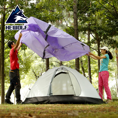 Male Wolf tent professional outdoor double deck double tent outdoor camping equipment four seasons rain-proof camping tent