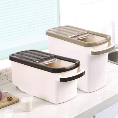 多功能日式加厚米桶 塑料带滑轮视窗储米箱防潮防虫米缸厂家直销