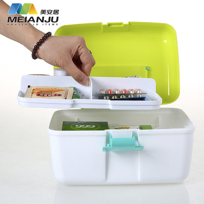 Portable multi-functional medicine box family Portable medicine box health care medical medicine box plastic manufacturers direct sales