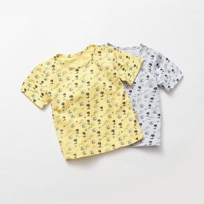 诗米克 夏款 婴儿圆领t恤满印男童短袖T恤