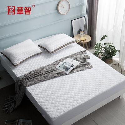 wish爆款酒店加厚磨毛布夹棉床笠床单超声波绗缝床垫保护罩
