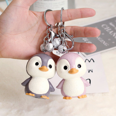 Decoration South Korea cute cartoon animal doll key ring men and women's drip plastic key chain ring bag pendant decoration