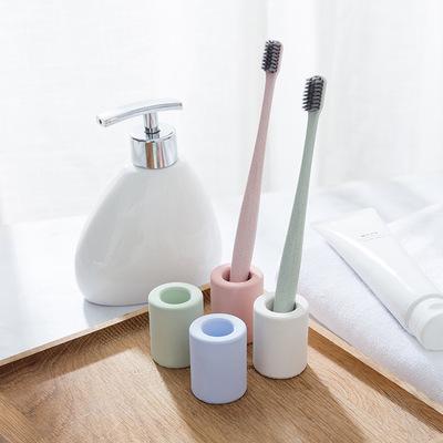 良物造硅藻土吸湿牙刷架 吸水牙刷桶 除甲醛 出口日韩 现货