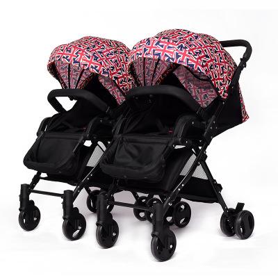 华婴双胞胎婴儿推车可拆分可坐可躺二胎龙凤胎轻便婴儿车