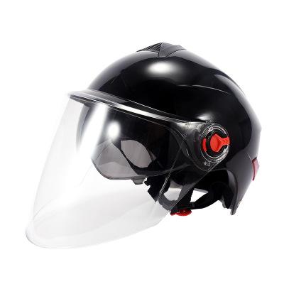 BYB电动车头盔男女通用夏季头盔摩托车头盔防晒双镜片头盔