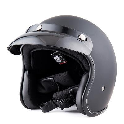 BYB复古头盔摩托车头盔时尚半盔时尚电动车摩托车头盔