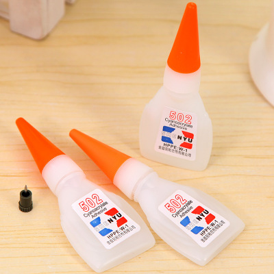 There are Wholesale 502 quick-drying glues office daily glue single 8g