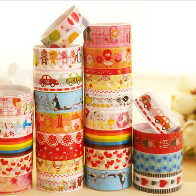Handmade Handmade tape Korean version color fantasy cartoon tape/transparent tape/cartoon version