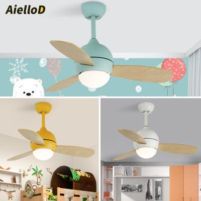 北欧风扇灯家用带风扇吊灯电扇灯现代简约客厅儿童卧室餐厅吊扇灯