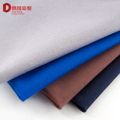 T shirt fabric 100% cotton hanbu 50s double cotton plain popular logo men's summer knitted fabric pure cotton fabric
