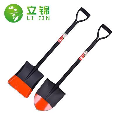 家用户外加厚锰钢铁锹铲子挖土铁锨种花园林工具移树植树铁锹农用