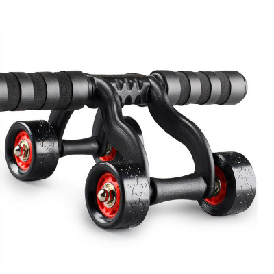 Manufacturers supply four-wheel abdominal bearing roller for men and women to reduce belly exercise exercise abdominal muscle and fitness equipment