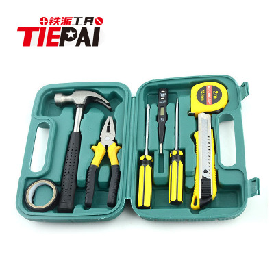 9-piece 8009 vehicle emergency maintenance kit multi-functional household hardware tools set screwdriver hammer