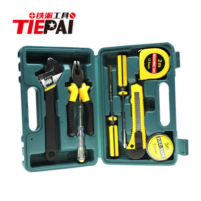 Yiwu home toolbox gift combination tool set set of 9 sets of tools home hardware tools set