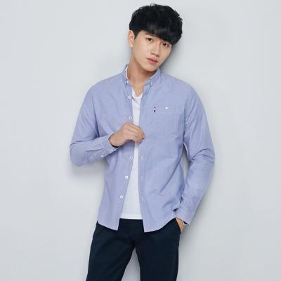 2019纯棉男装长袖衬衣商务休闲青年韩版修身潮流衬衣男11006