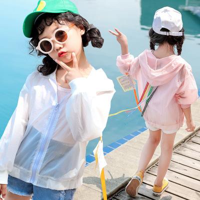 女童外套防晒衣2019夏季新款童装韩版空调开衫中大童外出服皮肤衣