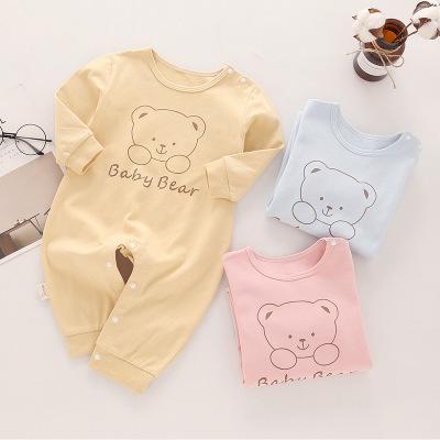 新款宝宝爬爬服彩棉连体衣新生儿童哈衣秋季服装纯棉婴儿连体衣服