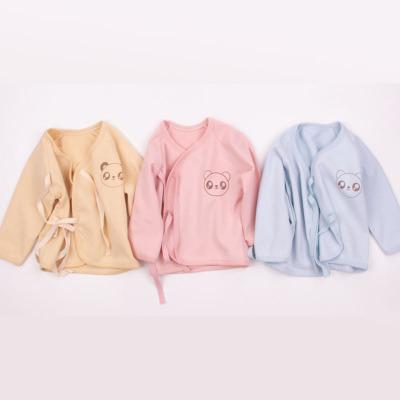 新款新生儿纯棉和尚服上衣婴儿衣服宝宝精梳棉内衣一件代发