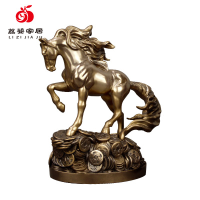 In order to get rich horse decoration, Chinese cast copper gets rich horse decoration