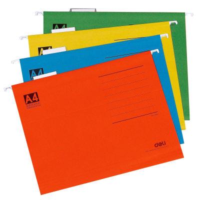 得力5468 A4挂快劳文件夹 吊挂文件夹纸质快捞夹挂式资料夹