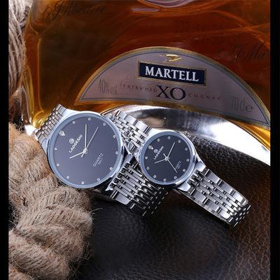 LAOGESHI潮流时尚镶钻情侣手表经典常年热销防水表进口机芯石英表