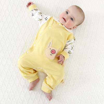 Baby onesies spring and autumn summer newborn underwear 3-0 up 6 up Baby summer cotton sleeping thanks crawling thanks