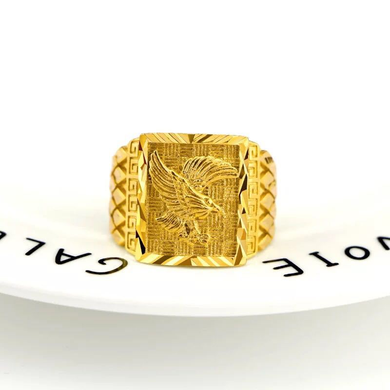 Manufacturers direct pure brass plated 24K gold ring ring ring ring ring size gold plated ring